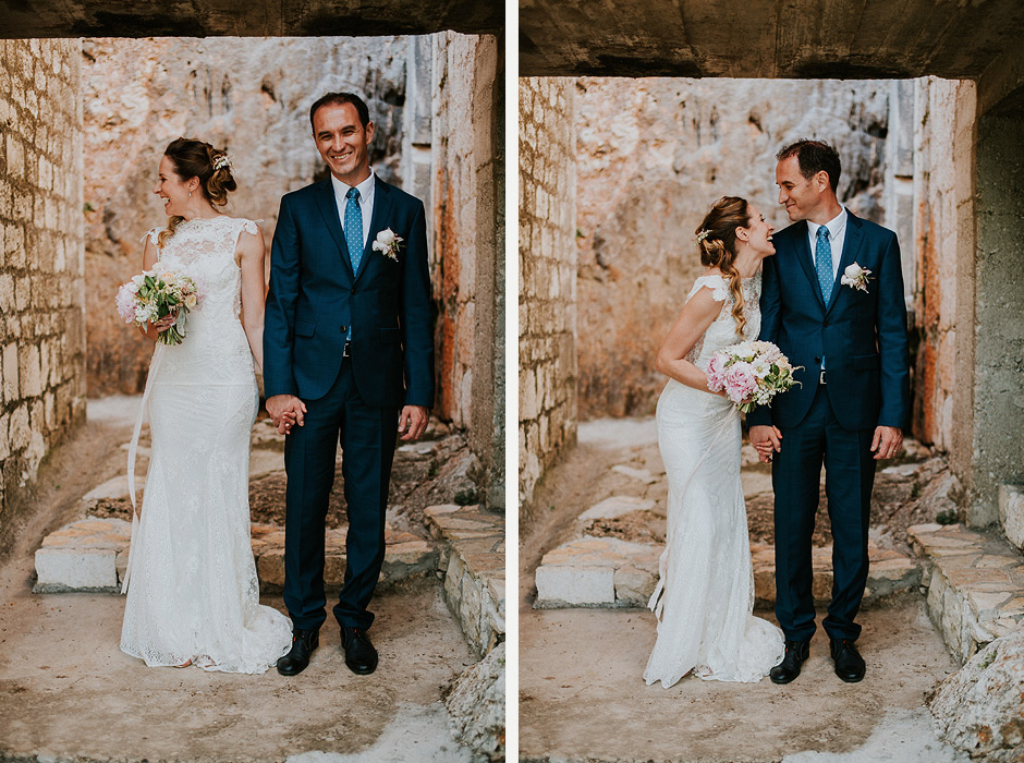 wedding couple in ciovo croatia