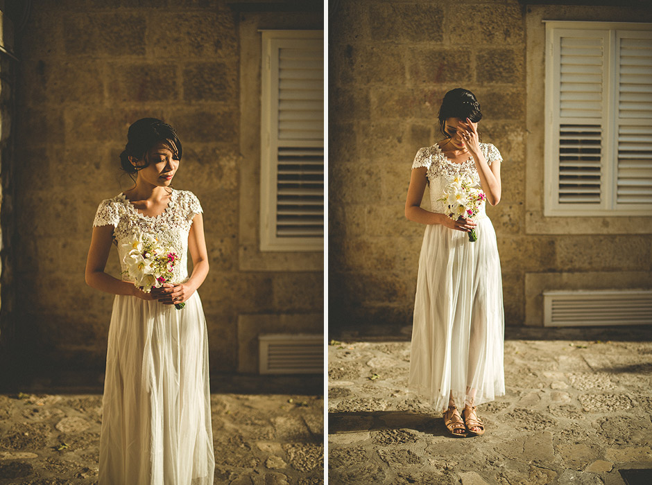 Dubrovnik wedding bride