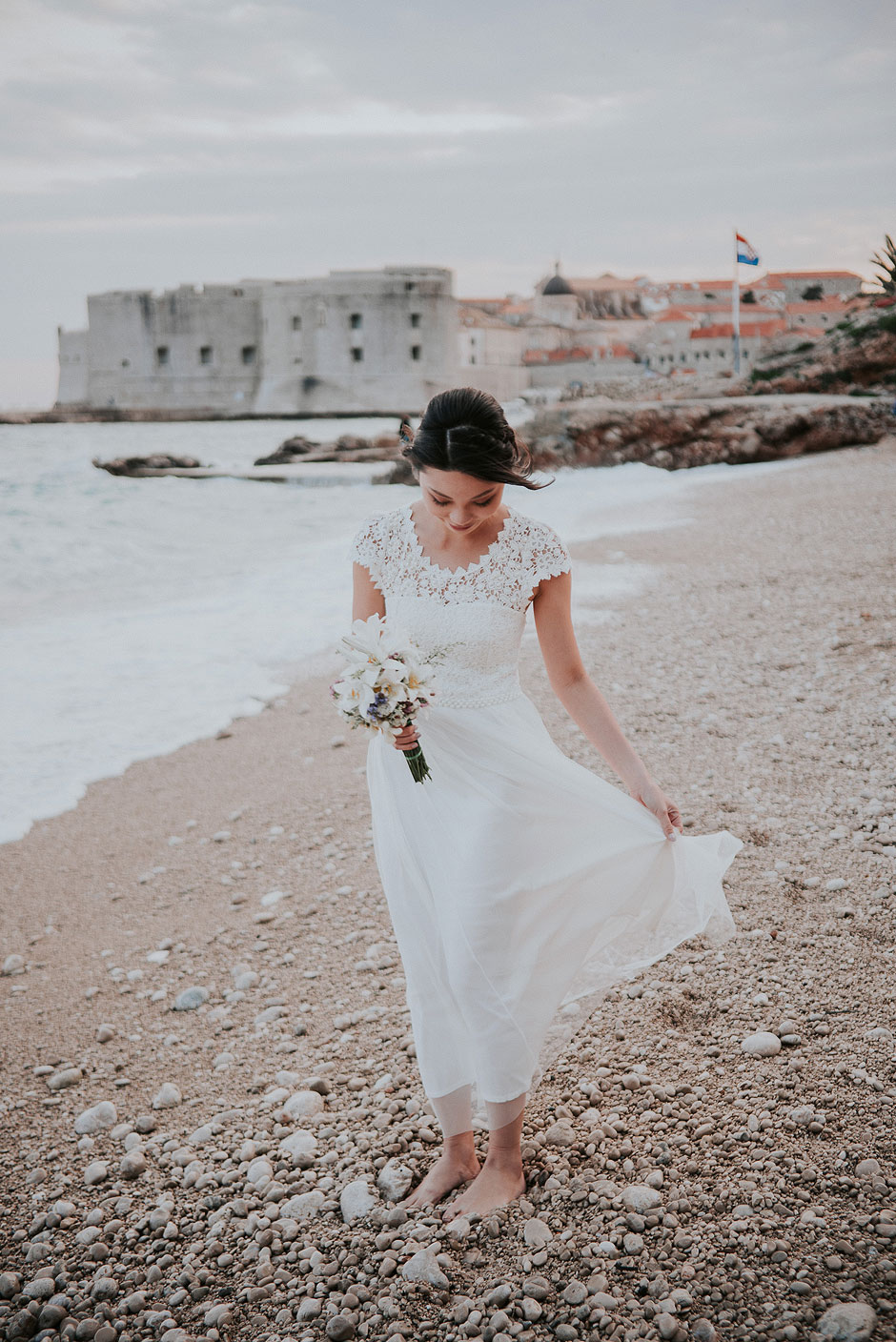 Bride in dubrovnik