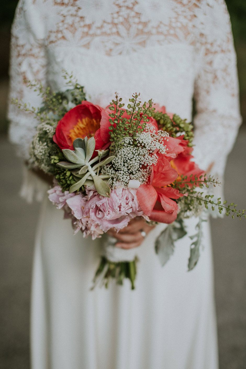 bouquet wedding boho