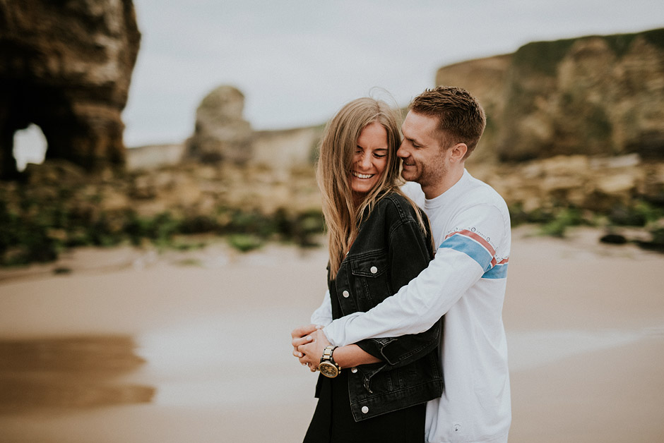Engagement couple marsden beach