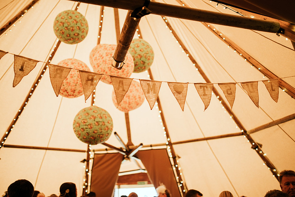 Newcastle wedding tipi
