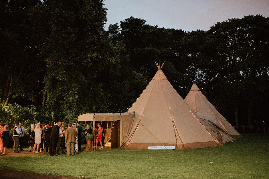 Wedding tipi in newcastle
