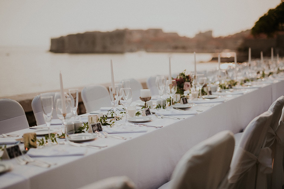 Dubrovnik wedding decor