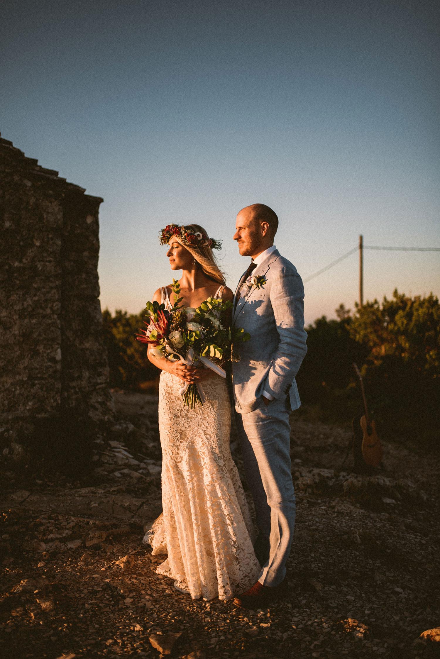 Wedding couple in Vis
